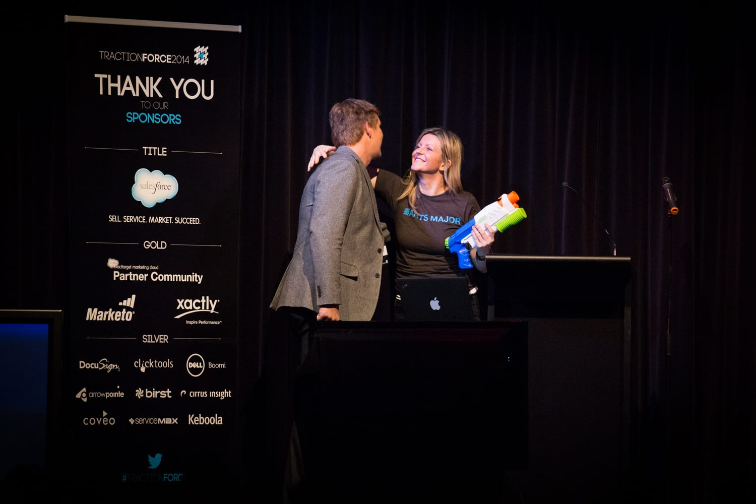 Emcee, TractionForce with founder and CEO, Greg Malpass: Vancouver, 2014.