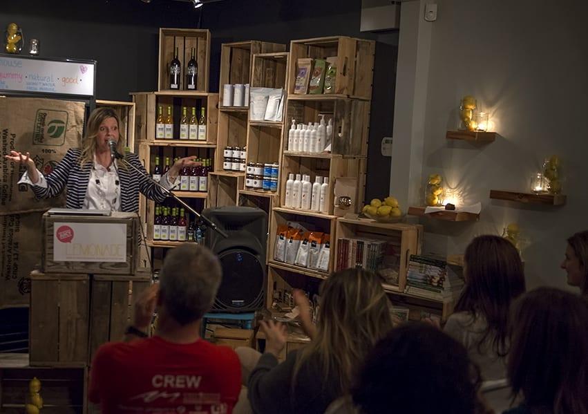 """Co-founder and speaker, """"Lemonade: One heckuva juicy speaker series"""": Deep Cove, 2014."""