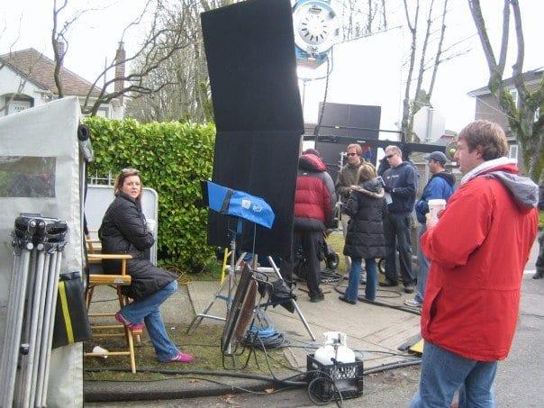 On the set shooting McDonalds Restaurants TV campaign: Vancouver, 2006.