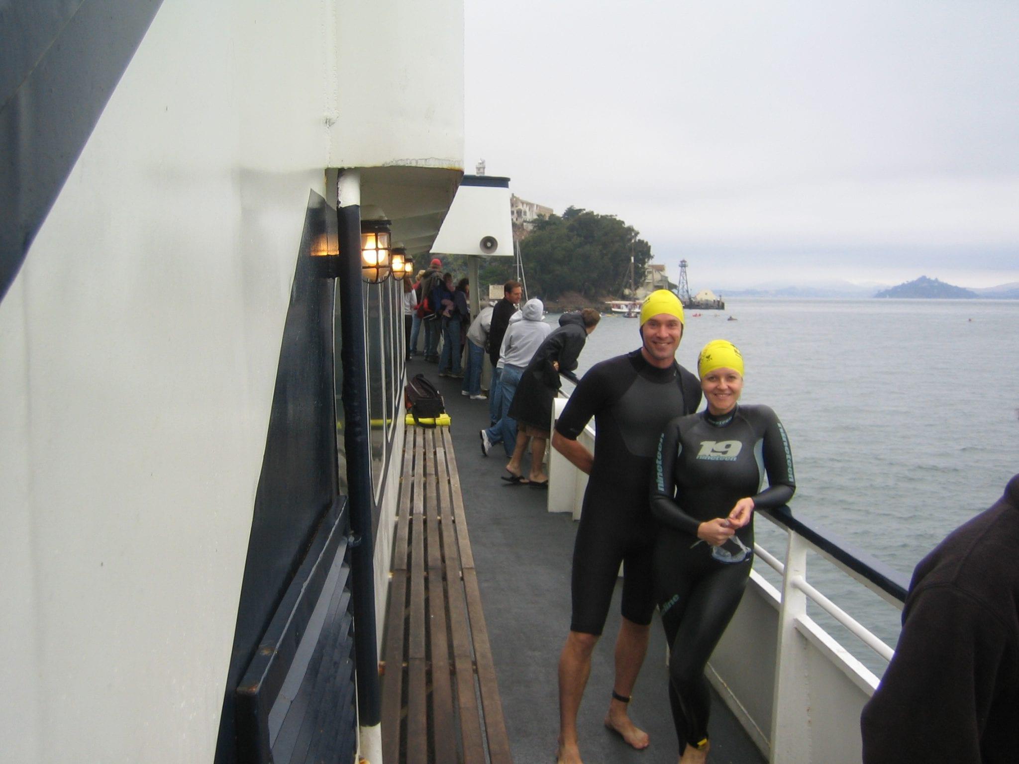 """Pale in the New Tanned"", Melanoma Fundraising Swim: Alcatraz, 2006."